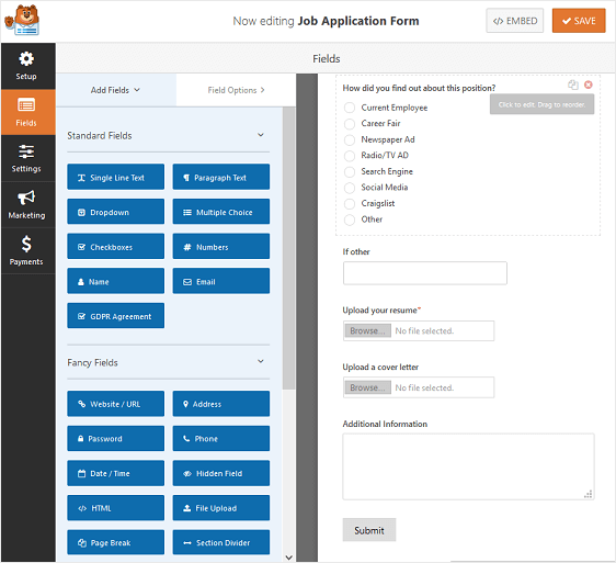 How to Create a Job Application Form in WordPress (The Easy Way)