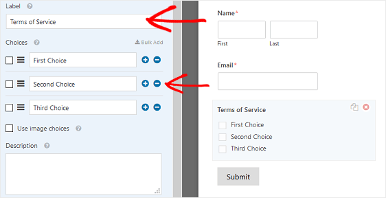 Label and Checkbox Removal