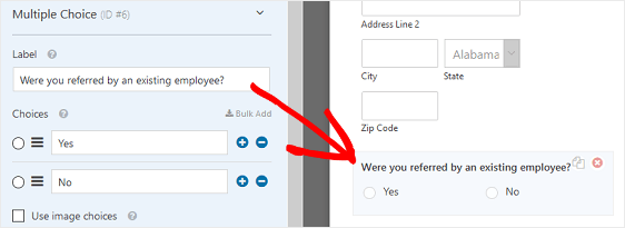 Referral Form Field Example