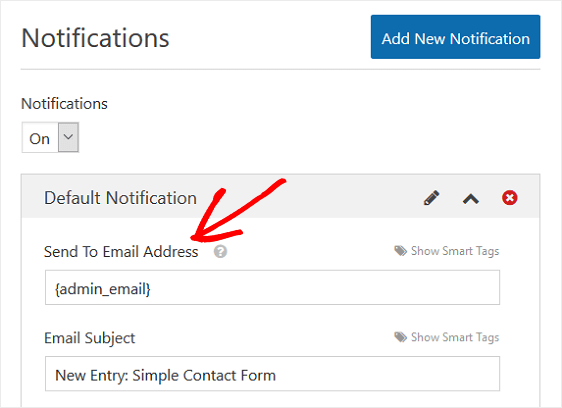 Send to Email Section Form Field