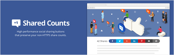 Shared Counts top social media plugins stats