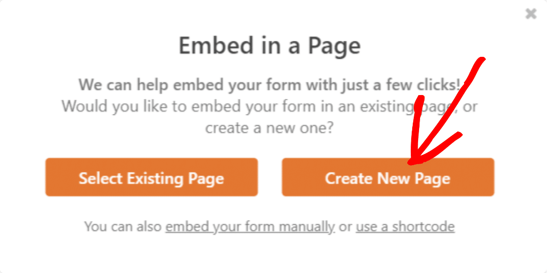 embed-wpforms-to-new-page