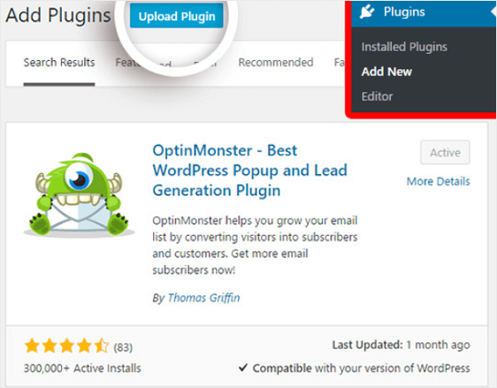 Upload MonsterInsights Plugin