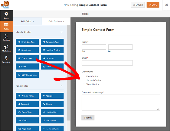 WPForms Form Fields