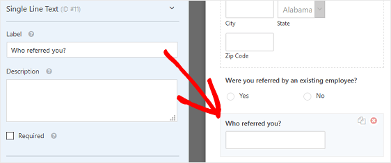 Who Referred Form Field And wordpress job application form plugin