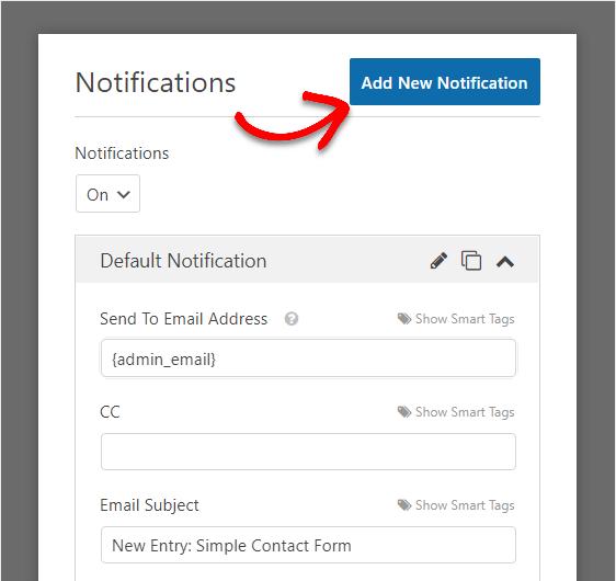 add new form notification