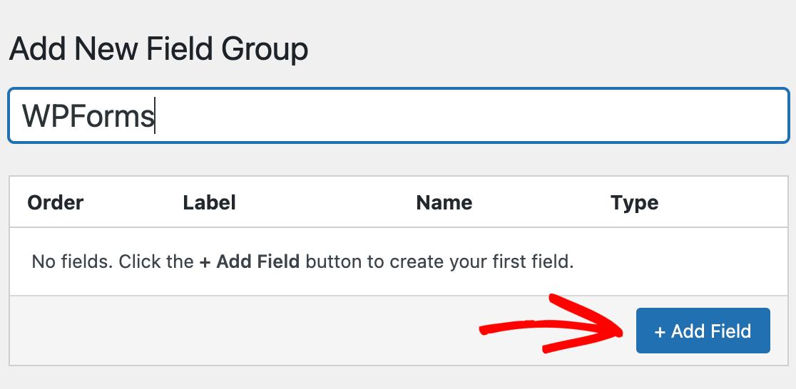 Adding a new field to Advanced Custom Fields