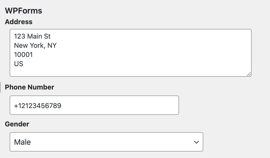 Viewing custom user meta added with WPForms