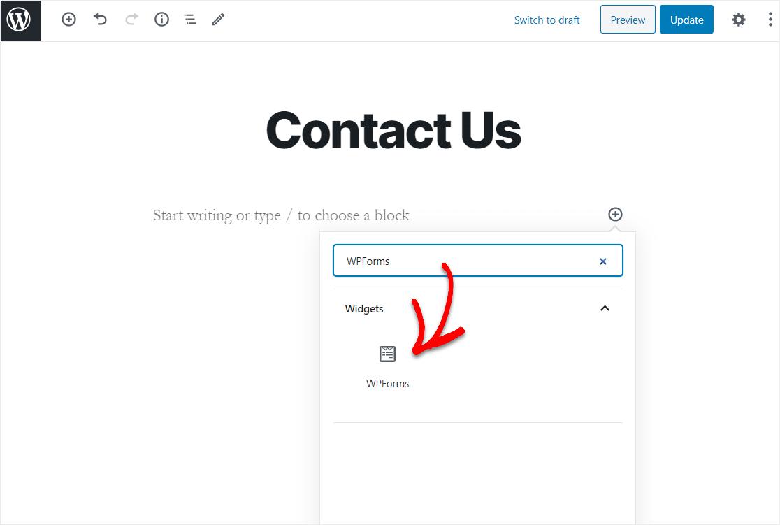 wpforms widget for contact form 7 export