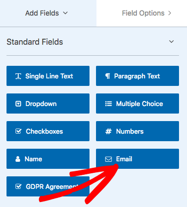 Add Email field to form