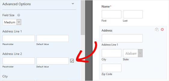 Address Form Field Change