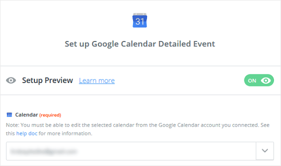 Choose Google Calendar