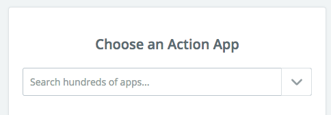 Choose an Action App in Zapier