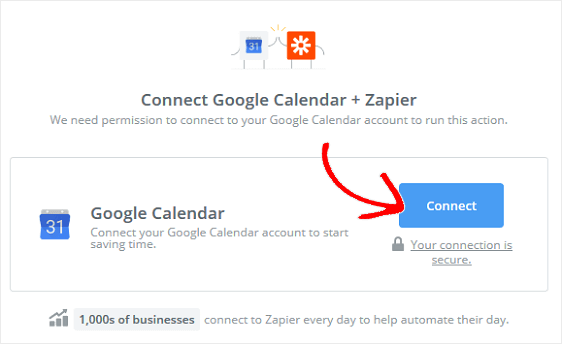 Connect Google Calendar to Zapier App