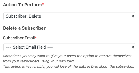 Delete a subscriber from Drip account