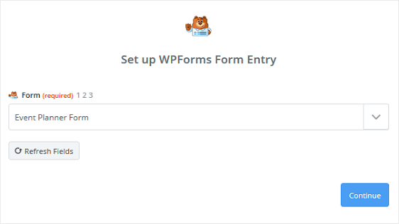 Form in Zapier Account