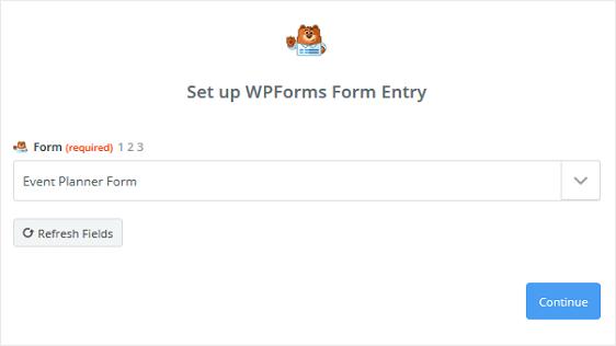 Form in Zapier Account