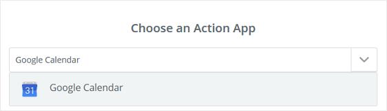 Google Calendar Action App