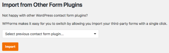 Import forms from other form plugins