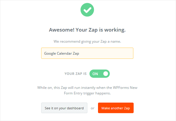 Name Your Zap
