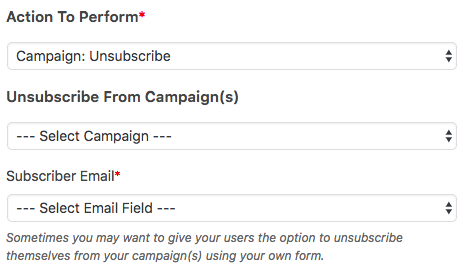 Unsubscriber user from Drip campaign(s)
