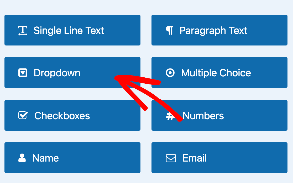Adding a Dropdown field to your form
