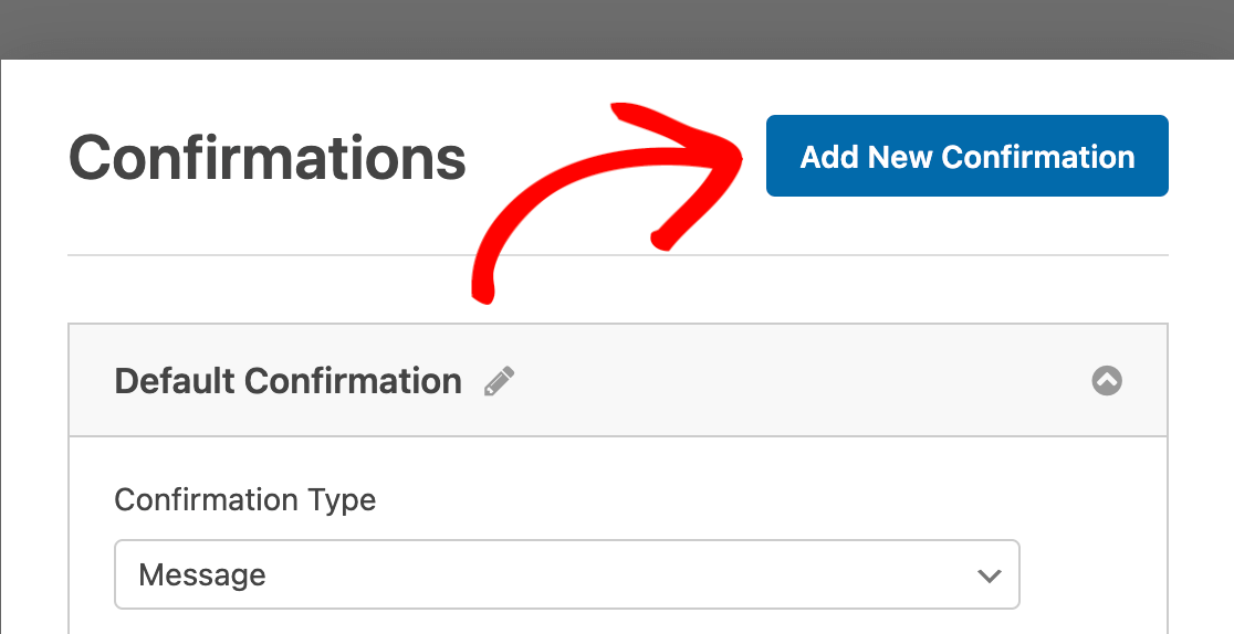 Adding a new confirmation to a form