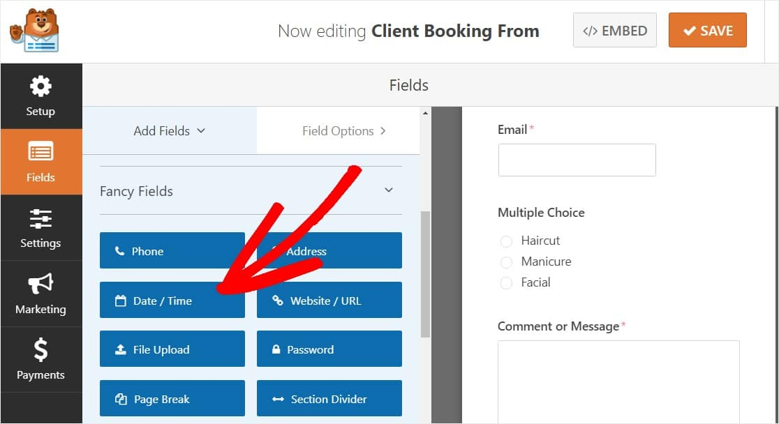 completely customizable accept appointments date and time