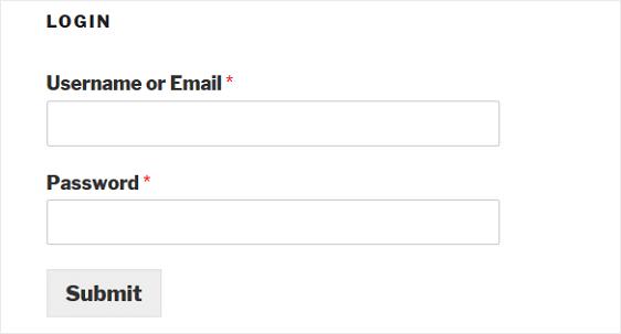 final login form on website