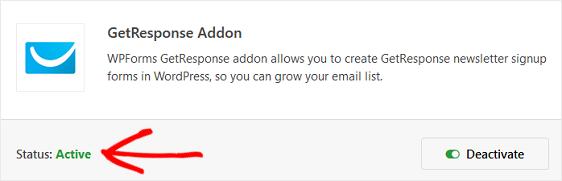 getresponse addon