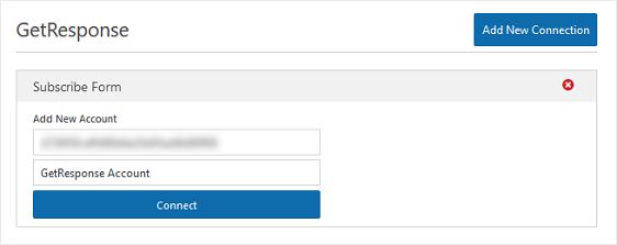 getresponse api in form editor