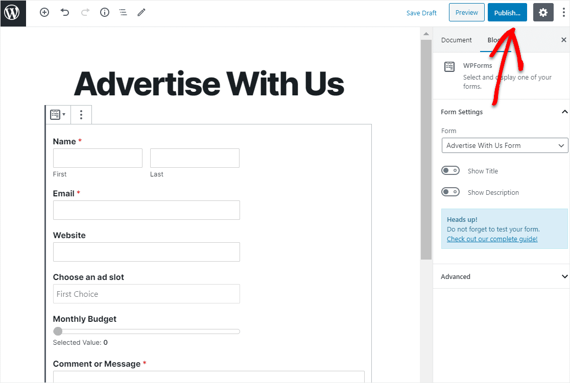 publish advertise with us form
