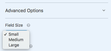 Field Size options in WPForms