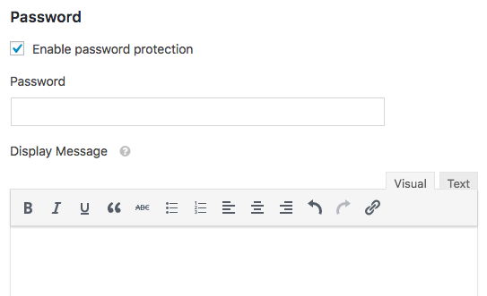 Password settings in WPForms Form Locker addon