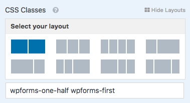 Set up a multi column layout in WPForms