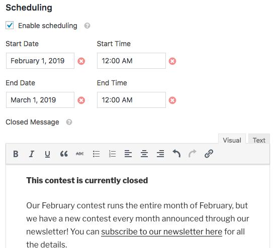 Setup Scheduling for form in WPForms Form Locker addon