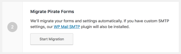 Start Migration from Pirate Forms to WPForms