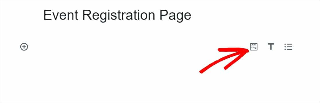 add event registration form to page