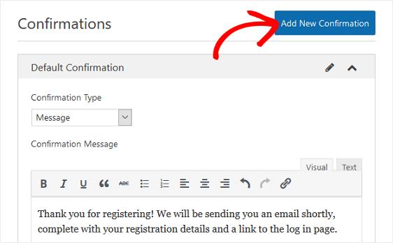 add new confirmation