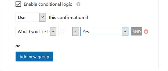 conditional logic rule