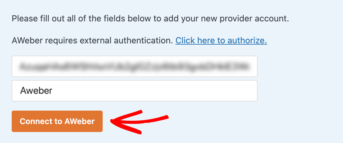 Connecting AWeber to WPForms