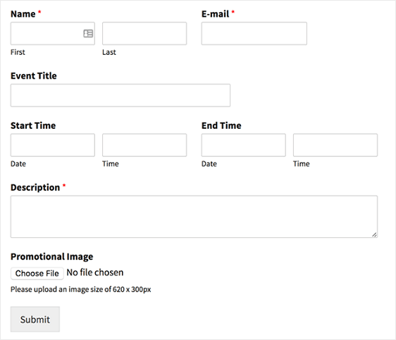 How to Create a User Submitted Events Calendar in WordPress