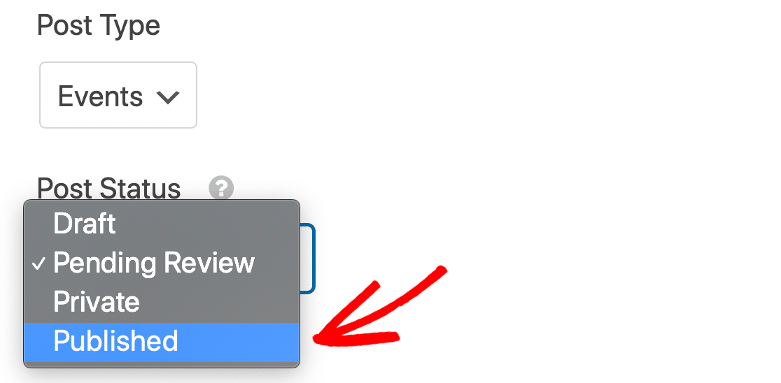 Publish events without review in WordPress with The Events Calendar