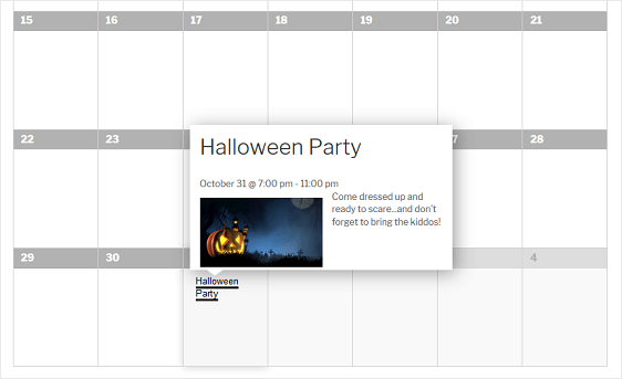 example calendar submission