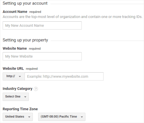 track website traffic to WordPress with ga account information