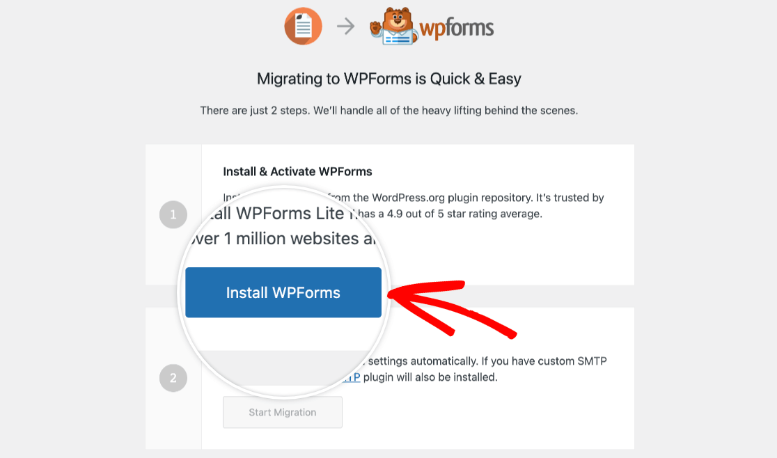 Installing WPForms Lite to migrate from Pirate Forms to WPForms