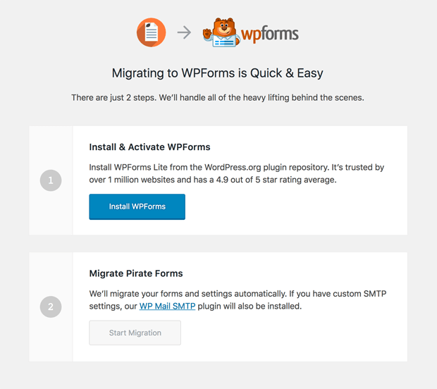 Migrate from Pirate Forms to WPForms