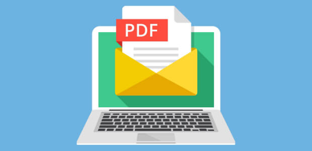 send a pdf in a form notification email