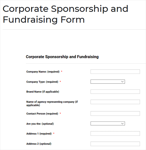sponsorship form example