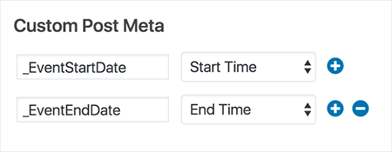 the events calendar custom meta for user submitted events